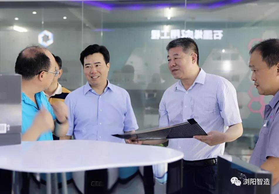 省科技厅厅长童旭东一行赴浏阳高新区调研科技创新工作